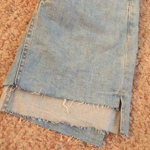 Forever 21 Skirts - Never Worn, High-Low Denim Mini Skirt
